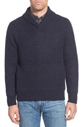 Men's Schott Nyc Regular Fit Shawl Collar Sweater Navy