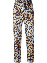 Msgm Graphic Print Trousers Multicolour