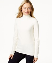 Charter Club Long Sleeve Mock Turtleneck Only At Macy's Vanilla Bean