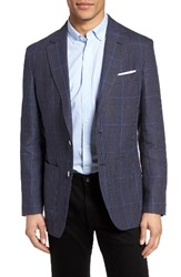 Bugatchi Men's Plaid Linen Sport Coat