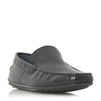 Hugo Boss C Traleo Printed Leather Driver Loafers Black
