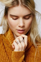 Free People Womens White Wave Open Ring