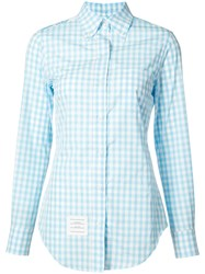Thom Browne Embroidered Shirt Women Cotton 40 Blue