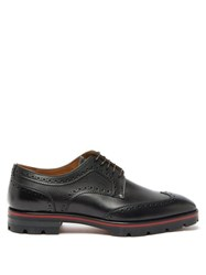 Christian Louboutin Laurlaf Chunky Soled Leather Brogues Black