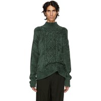 Sies Marjan Green Velour Rory Sweater