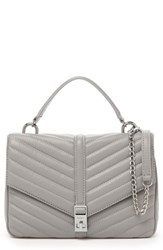 Botkier Dakota Quilted Leather Top Handle Bag Grey
