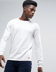 Esprit 100 Cotton Knitted Jumper With Marl Detail Offwhite