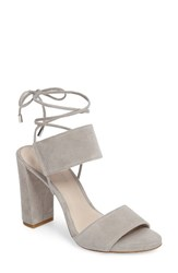 Kenneth Cole Women's New York Dess Sandal Light Grey Suede