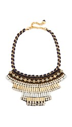 Nocturne Stowe Necklace Gold White Black