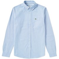 Lacoste Button Down Oxford Shirt Blue