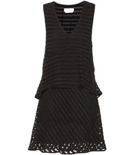 See By Chloe Embroidered Tulle Dress Black