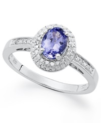 Macy's Sterling Silver Ring Tanzanite 3 4 Ct. T.W. And Diamond Accent Ring
