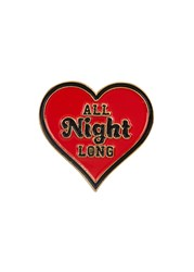 Good Worth And Co. All Night Long Enamelled Pin Red