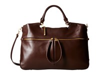 Hobo City Light Tote Chocolate Satchel Handbags Brown
