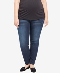 Motherhood Maternity Plus Size Dark Wash Skinny Jeans Amarello Wash