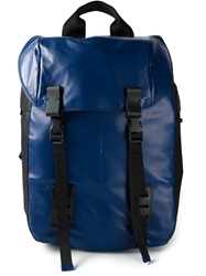 Lanvin Double Buckle Backpack Blue