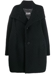Issey Miyake Oversized Quilted Coat Black
