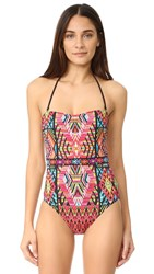 Nanette Lepore Mayan Mosaic Seductress One Piece Multi