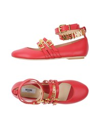 Moschino Ballet Flats Red
