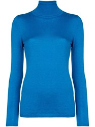 Snobby Sheep Roll Neck Fine Knit Sweater Blue