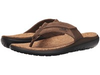 Teva Terra Float Flip Lux Dark Earth Men's Sandals Brown