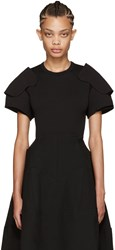Comme Des Garcons Black Padded Shoulders T Shirt