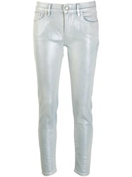 Ralph Lauren Collection Metallic Sheen Jeans Blue