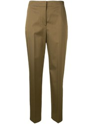 Theory Clean Tapered Trousers Brown