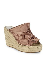 Kenneth Cole Otta Satin Espadrille Wedges Blush