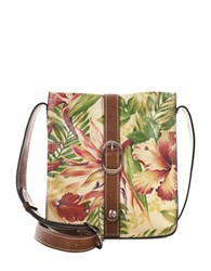 Patricia Nash Cuban Tropical Venezia Leather Crossbody Pouch