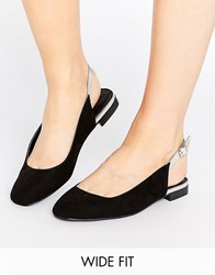Asos Lowri Wide Fit Sling Back Ballet Flats Black