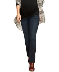 A Pea In The Pod Luxe Essentials Maternity Slim Bootcut Jeans Dark Wash