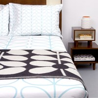Orla Kiely Linear Stem Duvet Cover Duck Egg Super King 260X220cm
