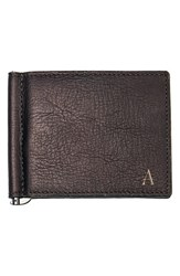 Men's Cathy's Concepts Personalized Leather Wallet And Money Clip Brown Brown A