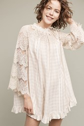 Anthropologie Rory Lace Swing Dress Ivory