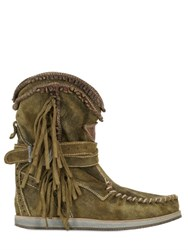 El Vaquero 70Mm Suede Wedge Ankle Boots
