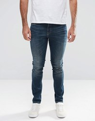 New Look Skinny Jeans In Greencast Blue Wash Blue