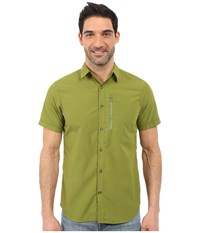 Fjall Raven Abisko Hike Shirt Short Sleeve Meadow Green Men's Clothing
