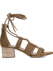 Maiyet 'Skylar' Lace Up Sandals Nude And Neutrals