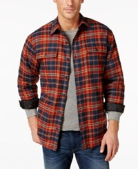 G.H. Bass And Co. Sherpa Lined Flannel Shirt Jacket