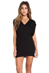 Bobi Light Weight Jersey Batwing Dress Black