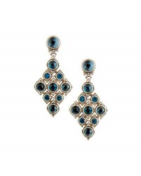Konstantino Diamond Shaped Blue Topaz Drop Earrings
