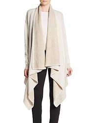 Alice Olivia Wool And Cashmere Waterfall Cardigan Oatmeal