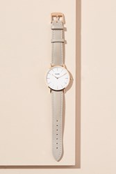 Anthropologie Cluse Hadiyah Leather Watch Grey