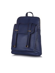 Yumi Faux Leather Casual Backpack Navy