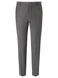 Richard James Mayfair Wool Pindot Slim Fit Suit Trousers Charcoal