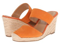 Franco Sarto Mint Orange Women's Wedge Shoes