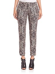 Haute Hippie The Tailored Snake Print Pants Shadow Multi