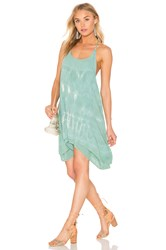 Bishop Young Tie Dye Strappy Dress Green