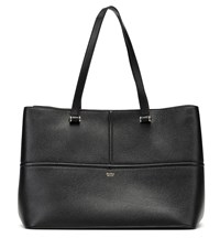 Max Mara George Leather Tote Black
